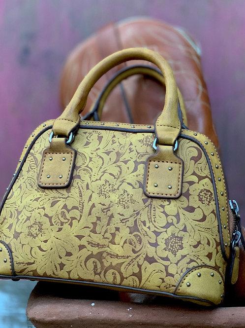 Tooled Clutch Bag