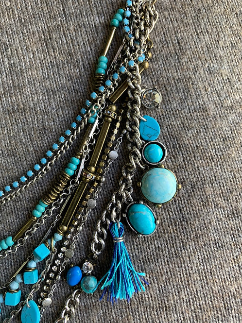 Multi Strand Necklace in Turquoise