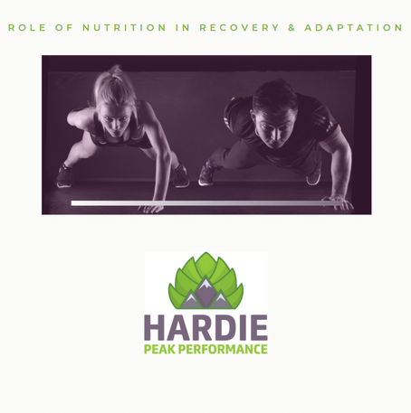 Role of Nutrition in Recovery and Adaptation