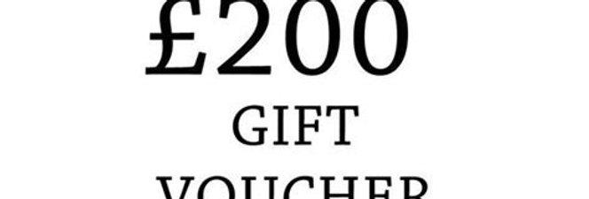 £200 experience voucher