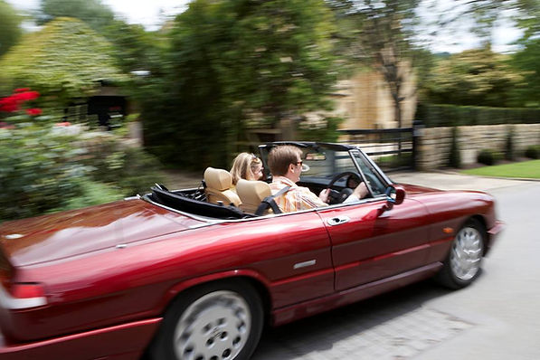 Classic Alfa Romeo Spider for hire in the Cotswolds