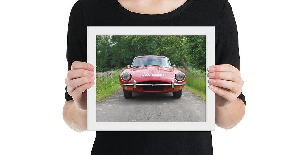 Jaguar E Type Framed Print