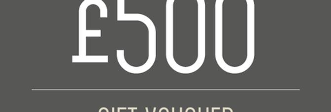 £500 experience voucher