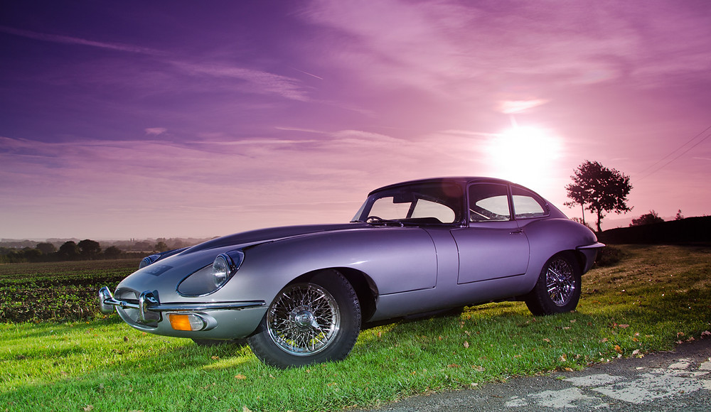 Jaguar E Type Series 2 for hire