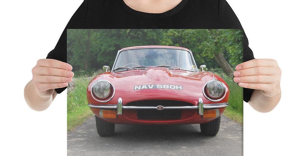 Jaguar E Type Canvas Print