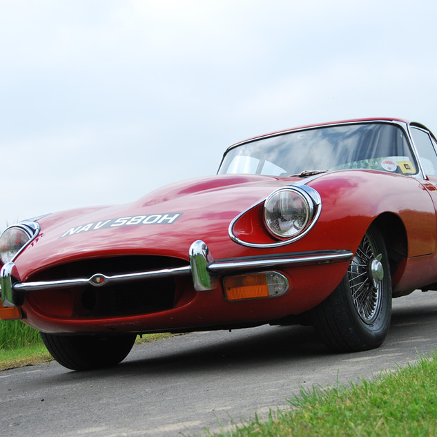 Jaguar E Type hire