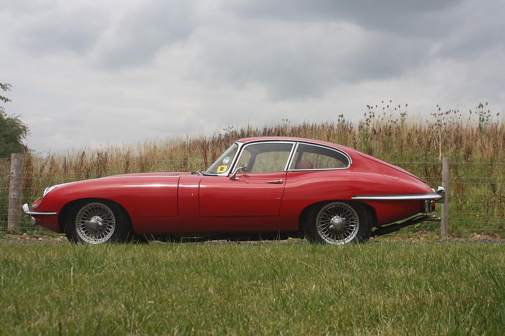 Jaguar E Type hire car