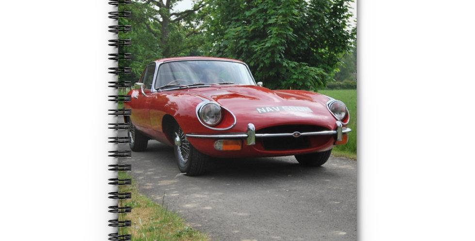 Jaguar E Type Spiral Notebook