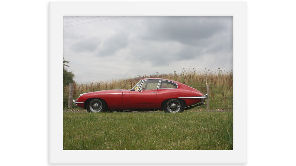 Jaguar E Type Coupe Framed Print