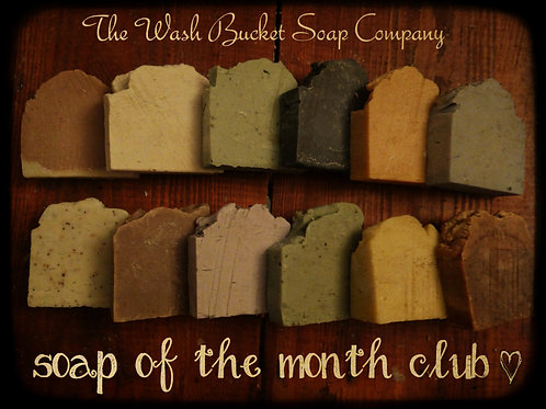 Soap of the Month Club 1 Year (12 Bars)