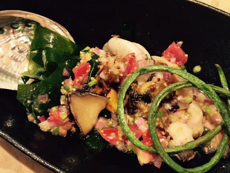 蝦夷アワビのソテー・柚子バターソース