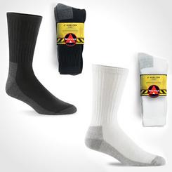 Wigwam At Work Crew Socks (Black / White) (3 pairs)