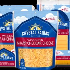 CrystalFarmsDairyCo Wisconsin Sharp Cheddar Cheese (Multiple Sizes / Varieties)