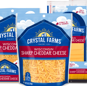 CrystalFarmsDairyCo Wisconsin Sharp Cheddar Cheese (Multiple Sizes / Varieties)