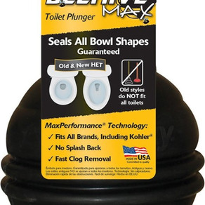 LavelleIndustriesInc Korky Beehive Max Toilet Plunger with T-Handle and Holder (Model#95-4)