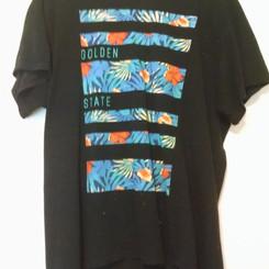 ThePublicEye Golden State Short Sleeve Cotton Tee Shirt
