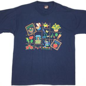 "EndlessDesignsInc FruitOfTheLoom Vintage ""Garden Items"" Tee Shirt"