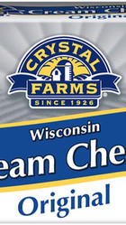 CrystalFarms Original Naturally Flavored & Colored Wisconsin Cream Cheese (Multiple Sizes)