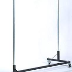 GarmentRack Z-Rack (6'Base, 6'Uprights, Metal Shelf)