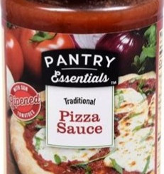 LucerneFoodsInc Pantry Essentials Traditional Style Sun-Ripened Tomato Pizza Sauce (14oz Jar)