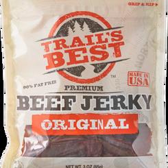 MonogramFoodsLLC Trail's Best Original/Peppered Lean Beef/Pork Gluten-Free Jerky (Multiple Sizes)