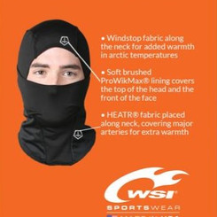 WSISportswear HEATR Windstop Insulating Hood With ProWikMax Lining