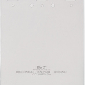 KleerTech Bio-D Clear Biodegradable Name Badge Holder (#TSS-328) (Multiple Sizes)