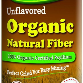LifeLabHealthLLC NuSyllium Unflavored 100% Organic Psyllium Natural Fiber Powder (21oz Bottle)