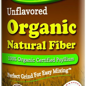 LifeLabHealthLLC NuSyllium Unflavored 100% Organic Psyllium Natural Fiber Powder (21oz Bottle)