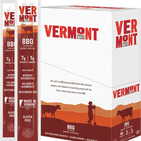 VermontSmokeAndCure BBQ Seasoned Beef Gluten-Free Vegetarian-Fed Snack Stick (Multiple Sizes)