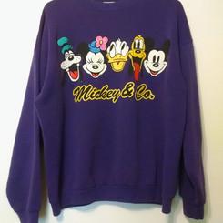 Mickey&Co Vintage Purple Long Sleeve Sweater