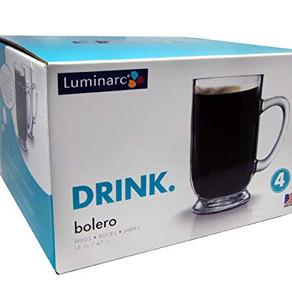 Arc International Luminarc Bolero Glass Mug (4count, 16oz)