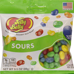 JellyBellyCandyCompany Sours Gourmet Jelly Bean Fat-Free Candy (Multiple Sizes)