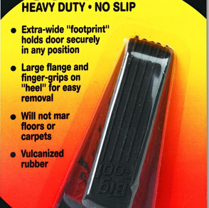 MasterManufacturingCompany Big Foot Heavy Duty Non-Slip Rubber Doorstop (Multiple Colors & Sizes)
