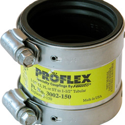 FerncoInc Shielded No-Hub / ProFlex / Corrugated Specialty Pipe Couplings (Multiple Sizes)
