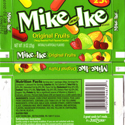 Mike And Ike Original Fruits Chewy Candies
