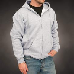 AllAmericanClothing Hooded Full-Zip Sweatshirt (Multiple Colors)