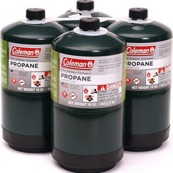 Coleman Propane Fuel Camping Gas Cylinders (4 pack,16oz canister)