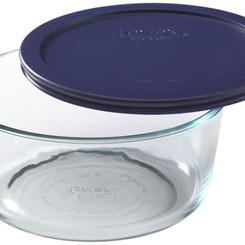 Pyrex Storage Plus Round Glass Bowl (BPA-Free Lid) (7cup)