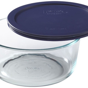 Pyrex Storage Plus Round Glass Bowl (BPA-Free Lid) (7cup)