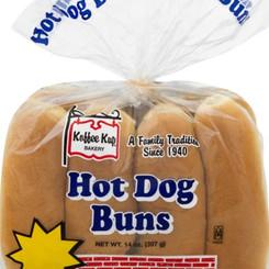 KoffeeKupBakeryInc Enriched Hot Dog Buns (8 / 12 Pack Bags)