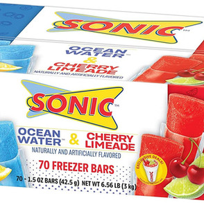 JelSertCompany Sonic Ocean Water & Cherry Limeade Freezer Bars (Multiple Sizes)