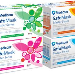 AMDMedicomInc SafeMask Master Series Procedure Earloop Face Masks (Multiple Colors)