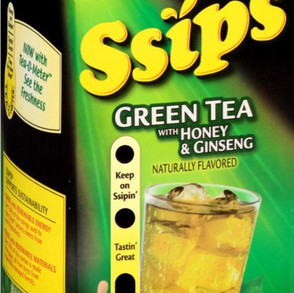 JohannaFoodsCo Ssips Naturally Flavored Green Tea With Honey And Ginseng Drink (Multiple Sizes)