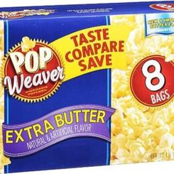 WeaverPopcornManufaturingInc Pop Weaver Extra Butter Microwave Popcorn (3/8/12/24/40 count Packs)