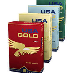 USA Gold Pre-Rolled Filtered Cigarettes (Single Packs / Cartons)