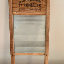 NationalWashboardCo Wood / Glass Clothes Cleaning Washboard #863