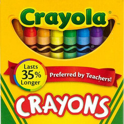 HallmarkCardsInc CrayolaLLC 24 Pack Standard Variety Non-Toxic Colored Crayons