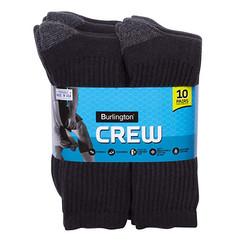 Burlington Cotton Crew Socks (Black / White) (10pairs)