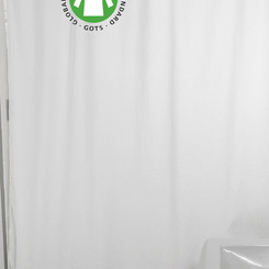 BeanProductsInc Organic Pure Cotton White Shower Curtain (Multiple Sizes / Colors / Materials)